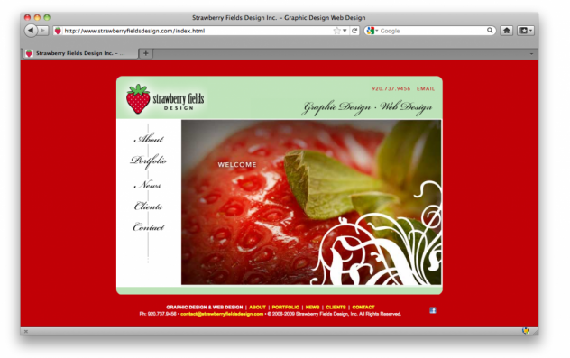 Strawberry Fields Design Website