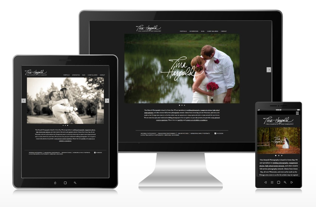 Tina Harpold Photography Responsive Website Design & Development