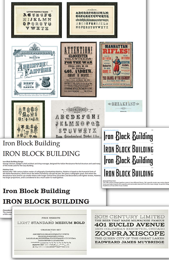 Research of typefaces and signage from the 1800s