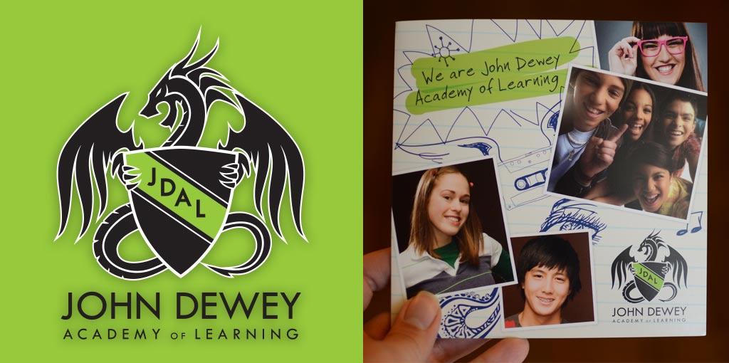 logo student recruitment brochure design john dewey academy of