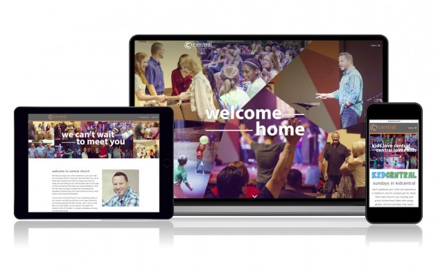 Central Church responsive website