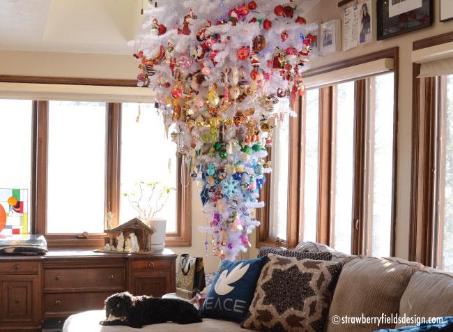upside down Christmas tree ©Strawberry Fields Design Inc.