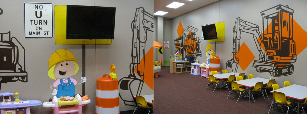 Kids Church Interior Design Construction Theme Space